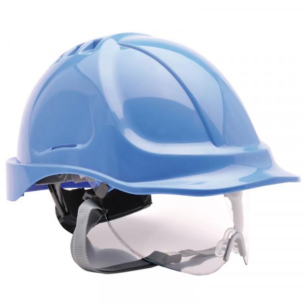 Casco de seguridad con gafa integrada