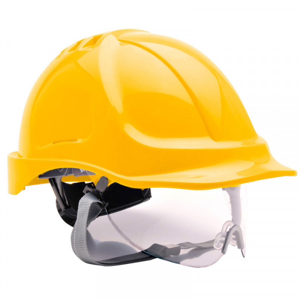 Casco de seguridad con visor integrado