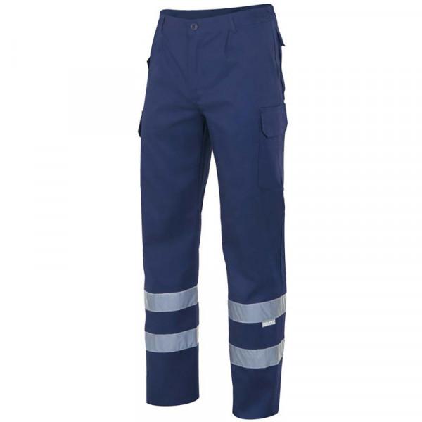 Pantalón azul marino con bandas reflectantes