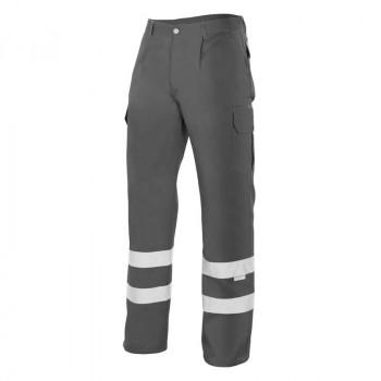 Pantalón gris con cintas...