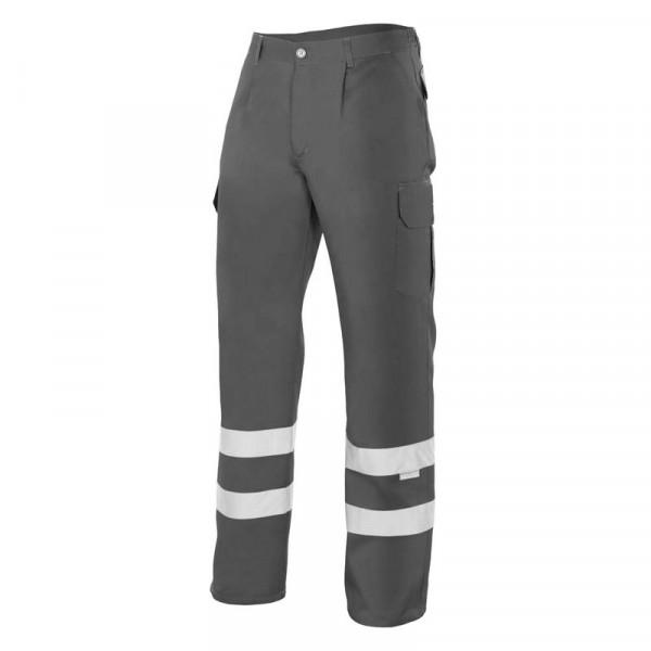 Pantalón gris con cintas reflectantes