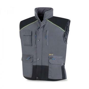 Chaleco acolchado multibolsillos gris/negro809