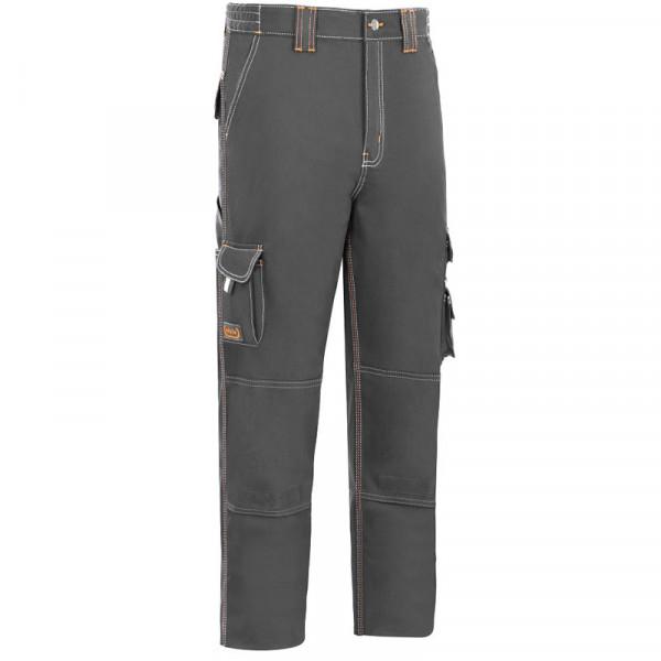 Pantalón de trabajo elástico de alta calidad, está reforzado con triple costura y además cuenta varios bolsillos.