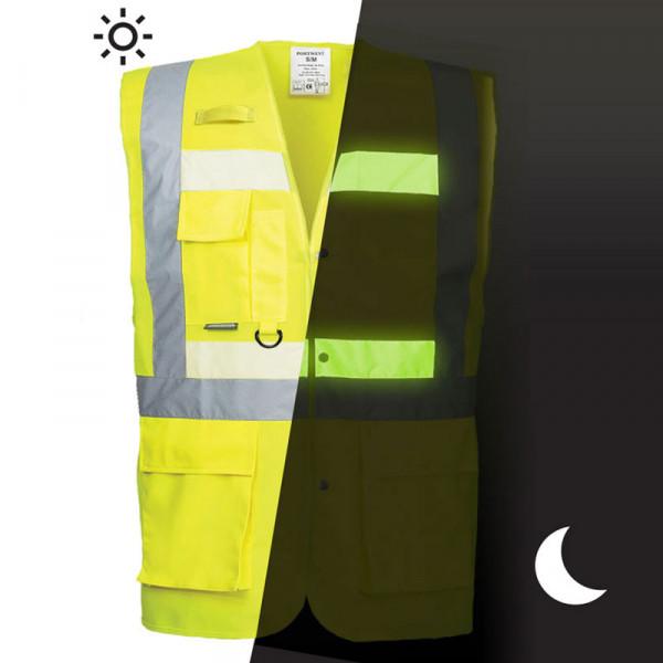 Chaleco alta visibilidad y fotoluminiscente