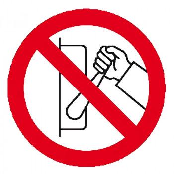 Señal adhesiva prohibido...