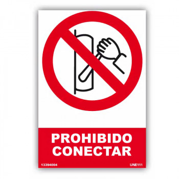 Señal Prohibido Conectar