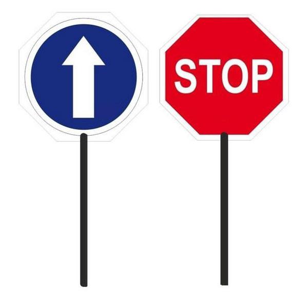 Paleta de señalización Stop / Paso