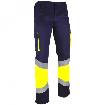 Pantalón alta visibilidad reforzado bicolor