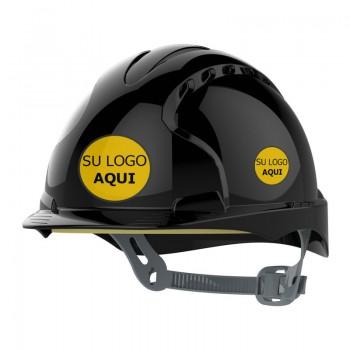 Casco de seguridad personalizado con el logotipo de su empresa. Un distintivo único que aporta valor y diferenciación.