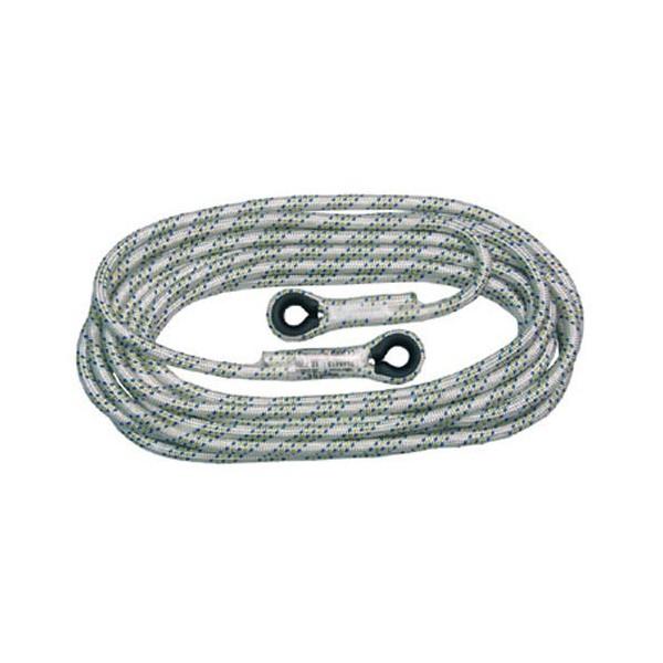 Cuerda de línea de vida vertical de 12mm para trabajos verticales. Disponible en varias longitudes.