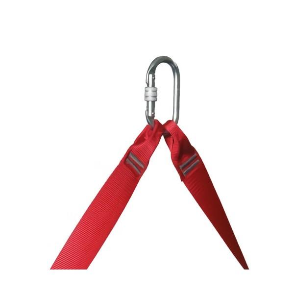 Silla para trabajos verticales preparada para ser utilizada con otros equipos de ascenso y descenso.