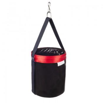Bolsa para trabajos en altura fabricada en PVC de alta resistencia. Dispone de gancho metálico incorporado en la asa de nylon.