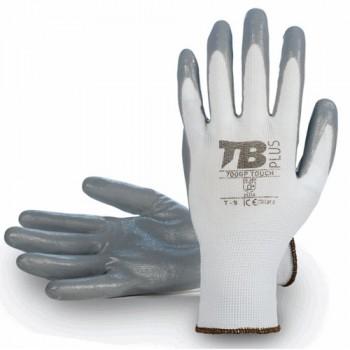 Guante fabricado en nylon con palma recubierta en nitrilo. Mucho tacto y excelente agarre.