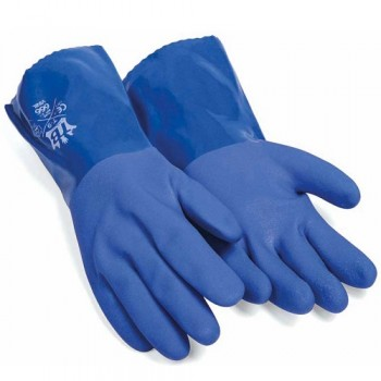 Guante PVC azul riesgo químico
