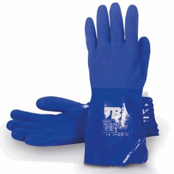 Guante PVC azul riesgo químico467