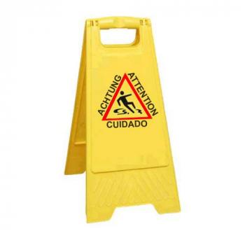 Señal de advertencia suelo...