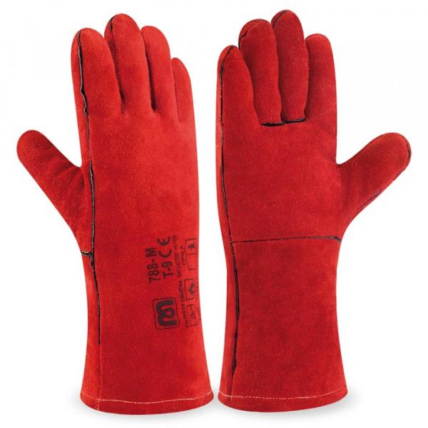 Guante soldadura color rojo 35cm