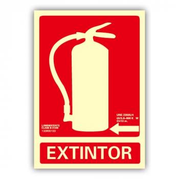 """Señal """"Extintor"""" Flecha..."""