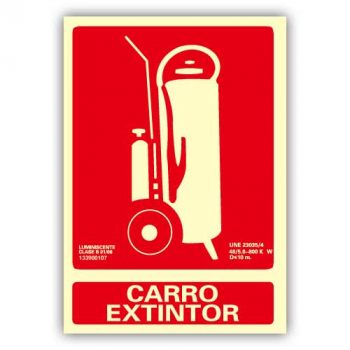 "Señal ""Carro Extintor"" 21x30cm"