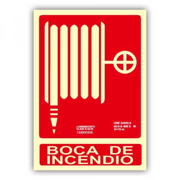 """Señal """"Boca de Incendio"""" 21x30cm"""