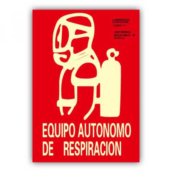"""Señal """"Equipo Autónomo de Respiración"""" 21x30cm"""