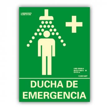 "Señal ""Ducha de Emergencia"" 22x30cm"