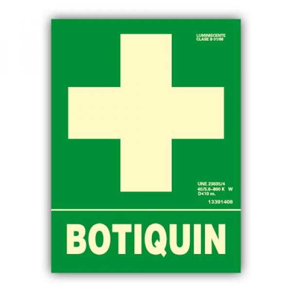 """Señal """" Botiquín"""" 22x30cm"""