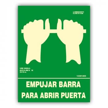 "Señal ""Empujar Barra para..."