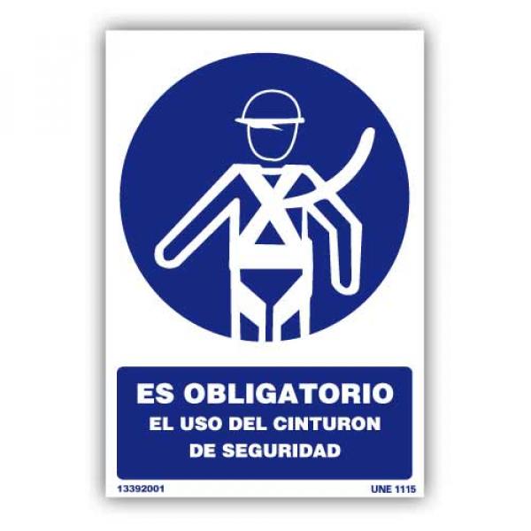 """Señal """"Es Obligatorio el Uso de Cinturón de Seguridad"""