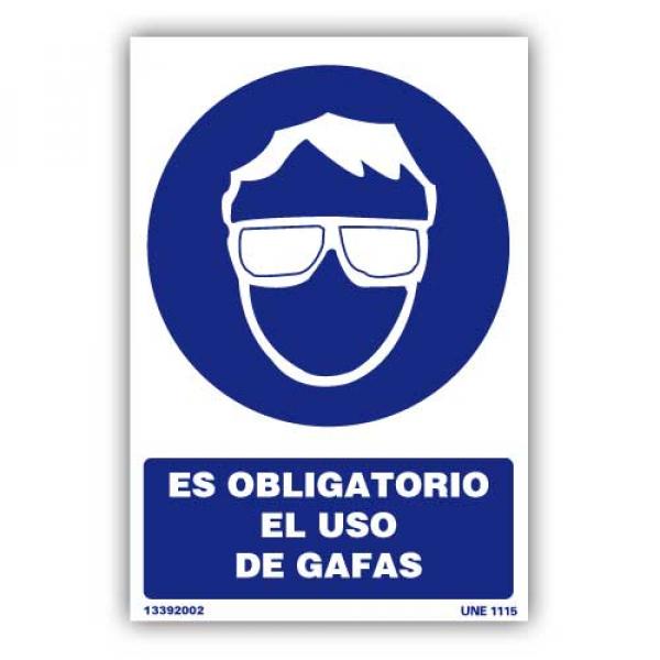 """Señal """"Es Obligatorio el Uso de Gafas"""""""