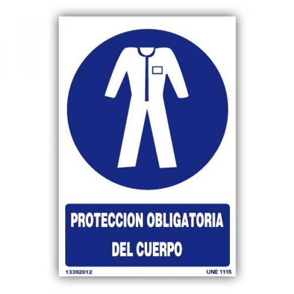 """Señal """"Protección Obligatoria del Cuerpo"""""""
