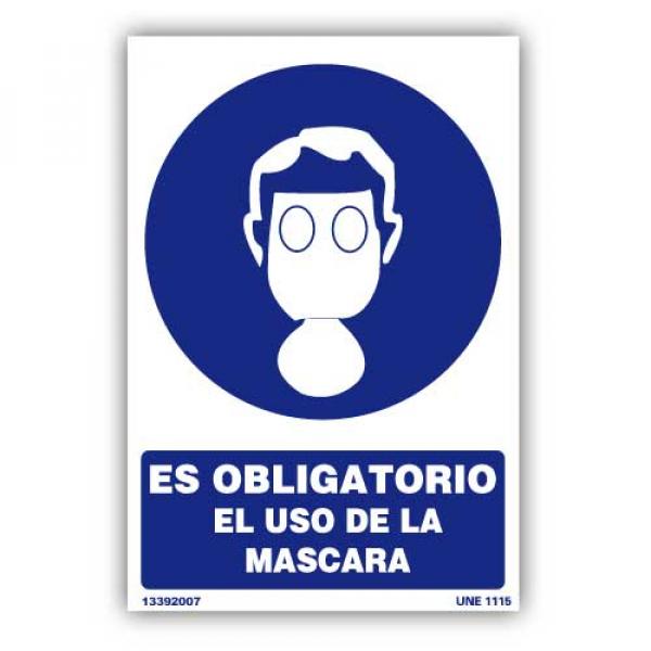 """Señal """"Es Obligatorio el Uso de Máscara"""""""