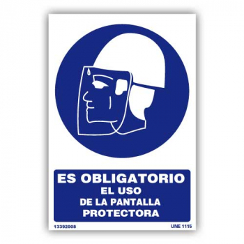 """Señal """"Obligatorio el Uso..."""