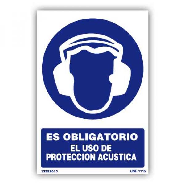 """Señal """"Obligatorio el Uso de Protección Acústica"""""""