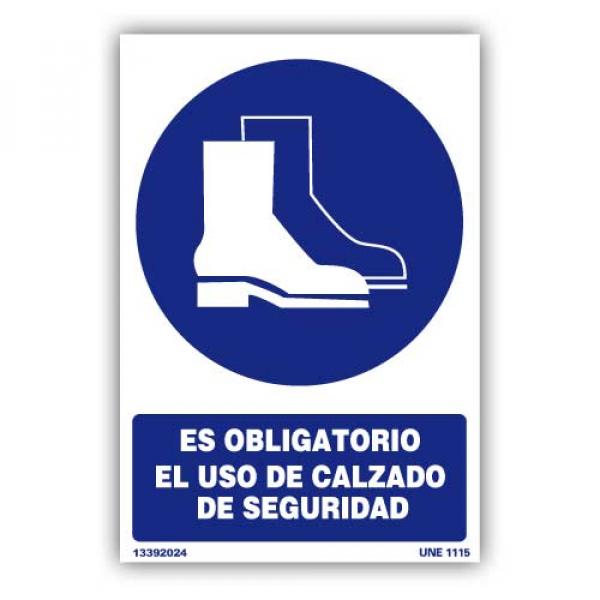 """Señal """"Es Obligatorio el Uso de Calzado de Seguridad"""""""