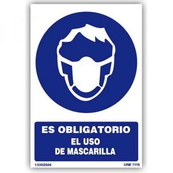 """Señal """"Es Obligatorio el Uso de Mascarilla"""""""