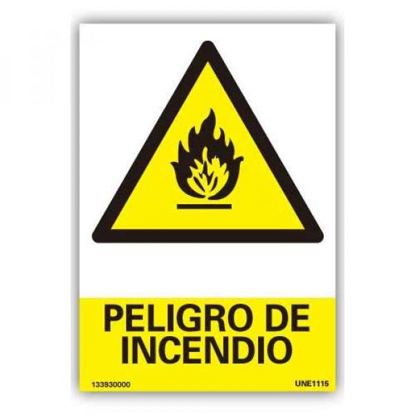 """Señal  """"Peligro de Incendio"""""""
