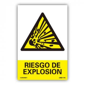 """Señal  """"Peligro de Explosión"""""""