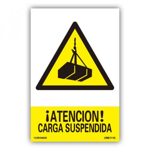 """Señal """"Atención Carga Suspendida"""""""