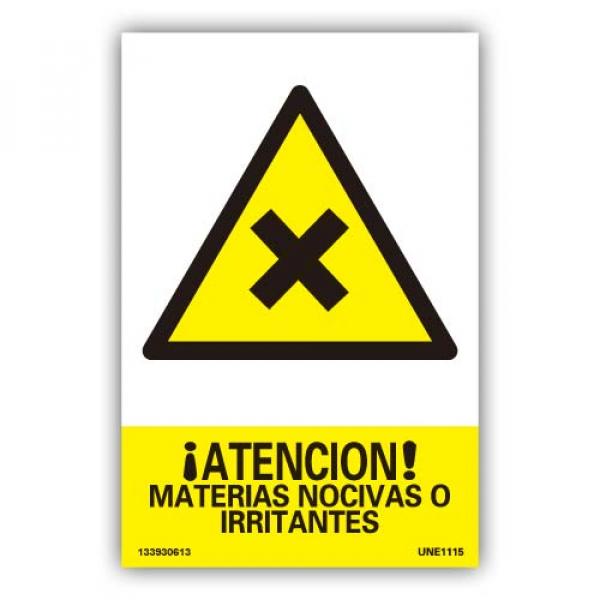 "Señal ""Atención Materias Nocivas o Irritantes"""