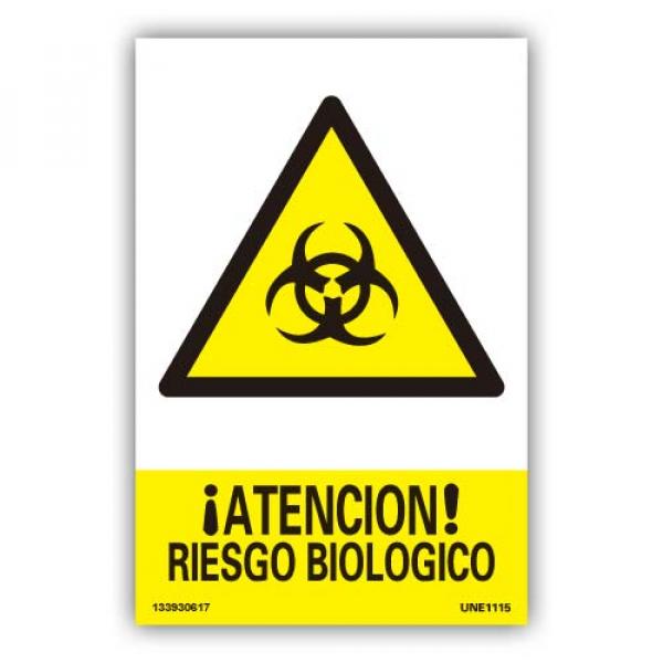 """Señal """" Atención Riesgo Biológico"""""""