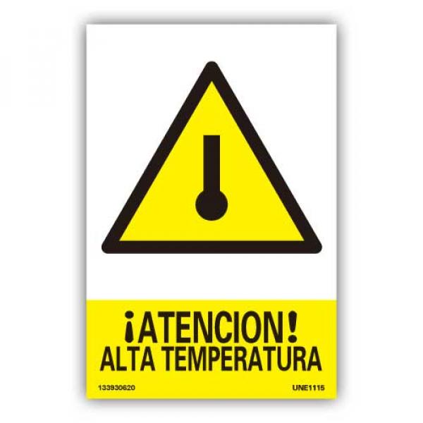 """Señal """"Atención Alta Temperatura"""""""