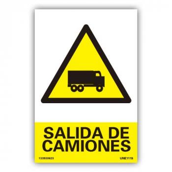 """Señal """"Salida de Camiones"""""""