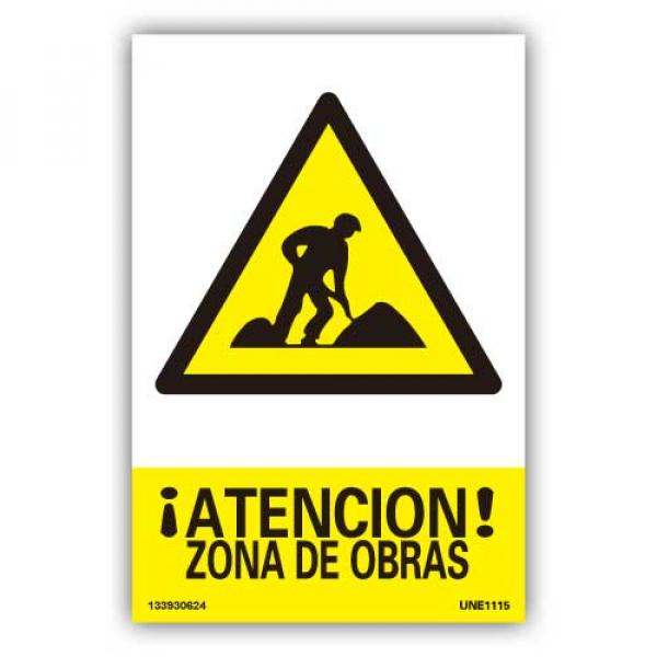 """Señal """"Zona de Obras"""""""
