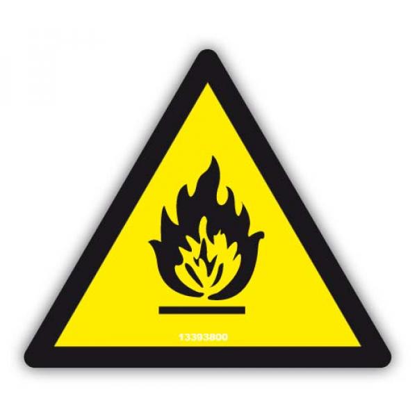 """Señal Adhesiva """"Peligro de Incendio"""""""