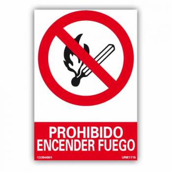 """Señal """"Prohibido Encender..."""