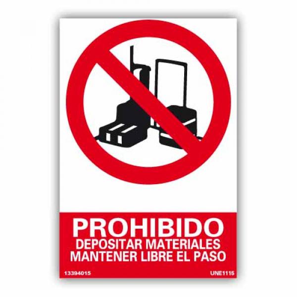 """Señal """"Mantener Libre el Paso"""""""
