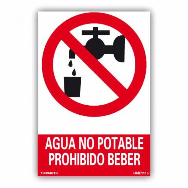 """Señal """"Agua no Potable"""""""