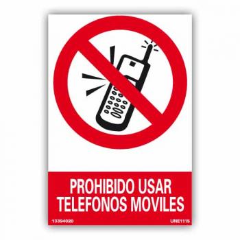"""Señal """"Prohibido Usar Teléfonos Móviles"""""""