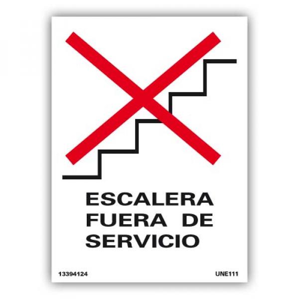 """Señal """"Escalera Fuera de Servicio"""""""